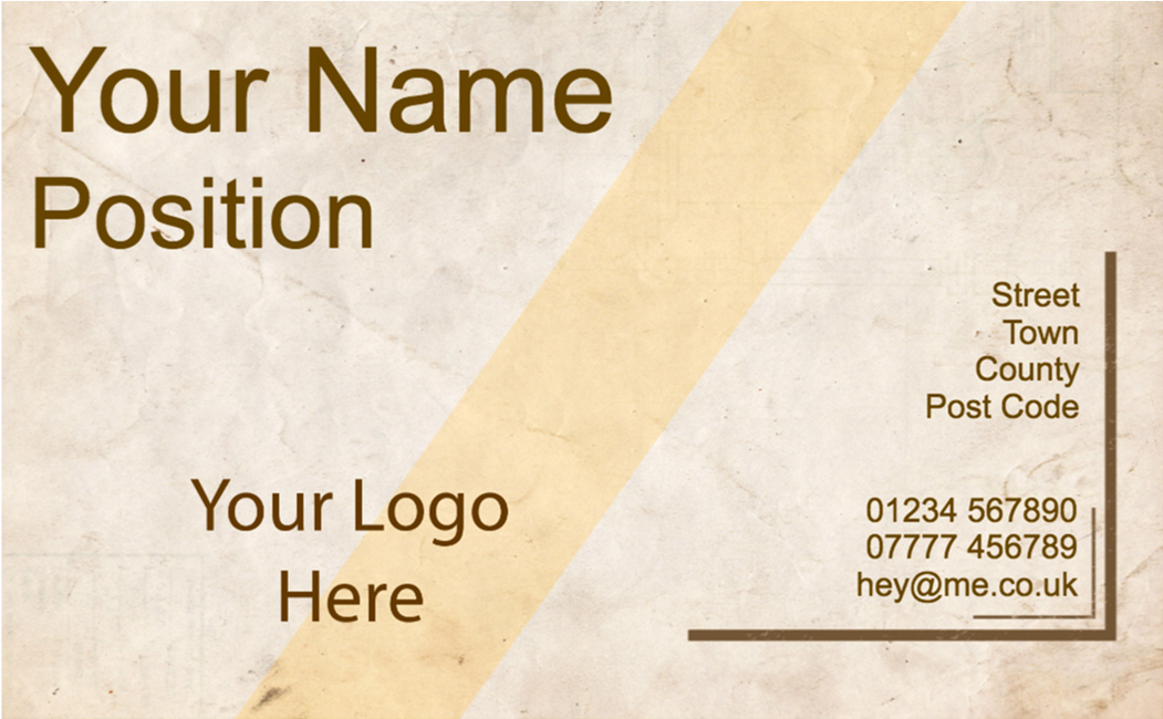 Basic business card design s002 copyprint basic business card design s002 colourmoves Images